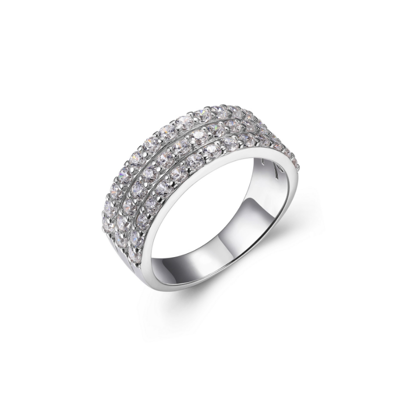 Reign Sterling Silver Pave Ring