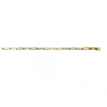 14KY Gold Paper Clip Necklace