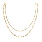 Tecimer & Johns 14KY Gold Paper Clip Necklace