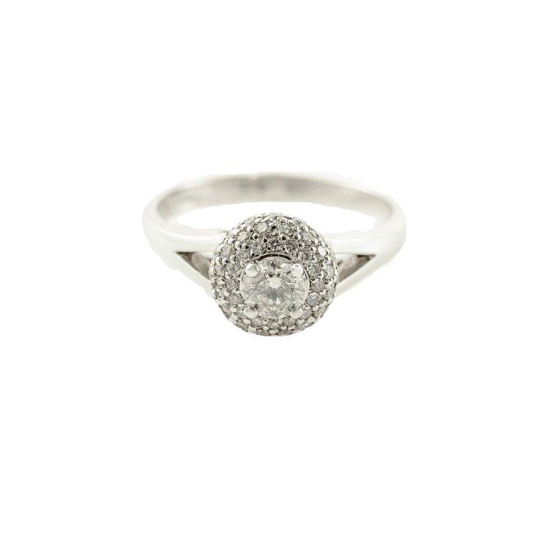 Fire and Ice 0.30CT Canadian Diamond Halo Engagement Ring