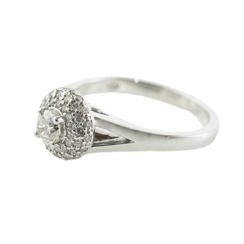 0.30CT Canadian Diamond Halo Engagement Ring
