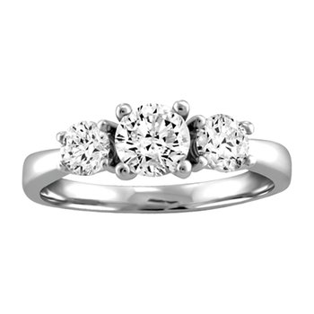 Canadian Three-Stone Engagement Ring