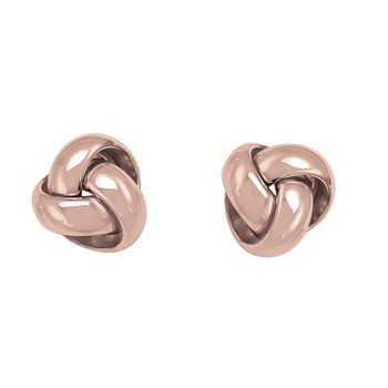Rose Gold Love Knot Studs