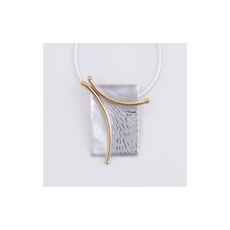 Constantine Designs Two-Tone Branch Necklace