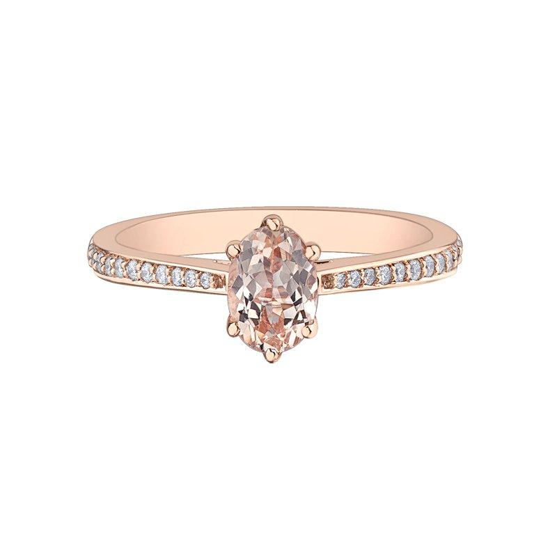 Corona Morganite Engagement Ring