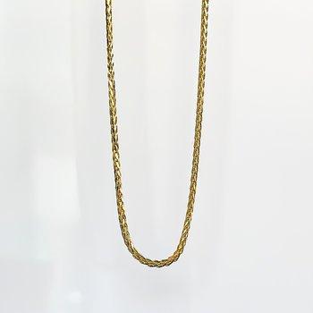 "Yellow Gold Wheat Chain (20"")"