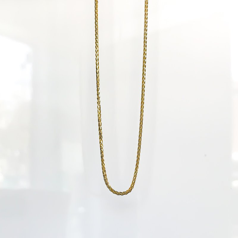"Tecimer & Johns Yellow Gold Wheat Chain (20"")"
