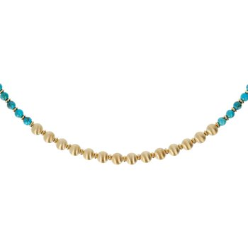 Turquoise & Satin Bead Necklace