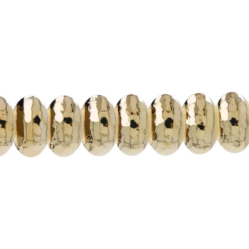 Etrusca Gioielli Hammered Disc Bracelet