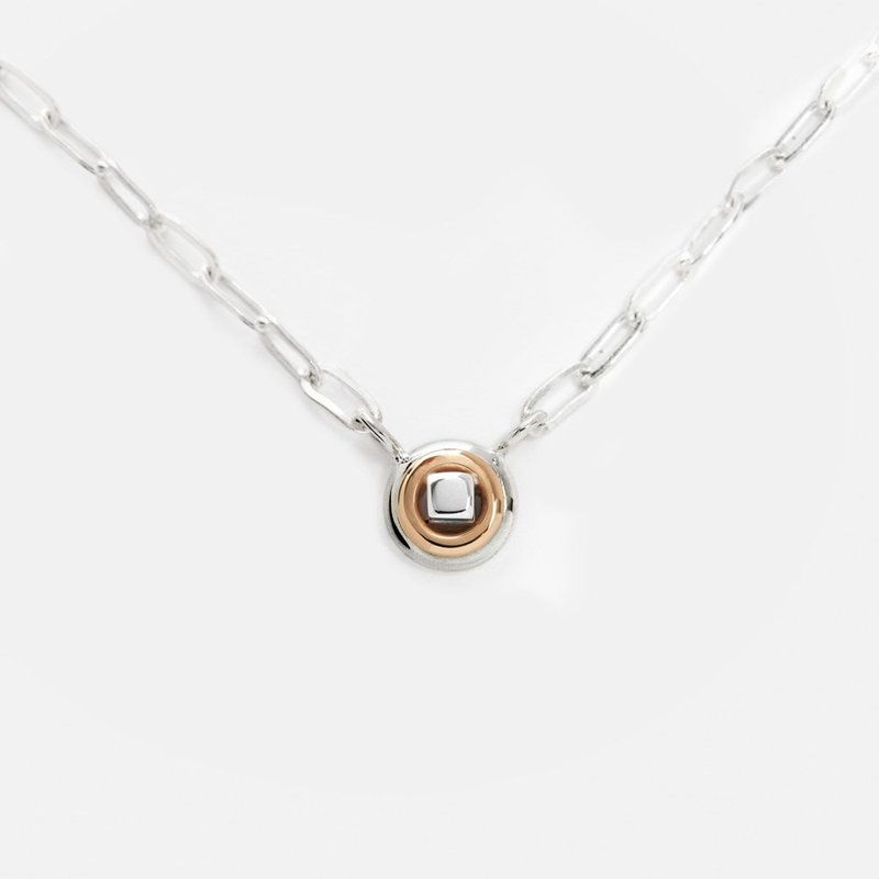 Constantine Designs Two-Tone That's Me Necklace Paperclip Chain