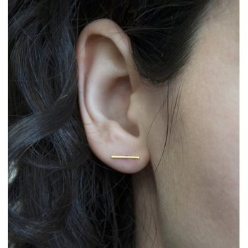 Gold Lisbon Stud Earrings