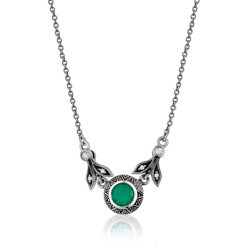 Larus Green Chalcedony Necklace