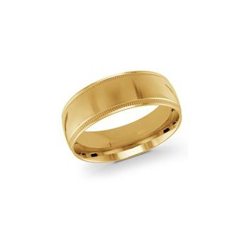 Gold Milgrain Band (8mm)