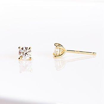 0.40CT TW Lab Grown Diamond Stud Earrings