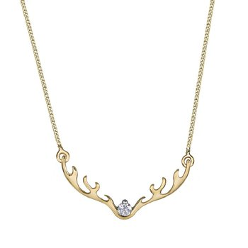 Canadian Diamond Antler Necklace