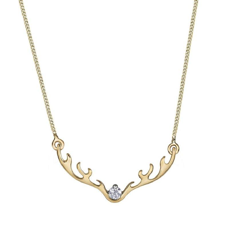 Corona Canadian Diamond Antler Necklace