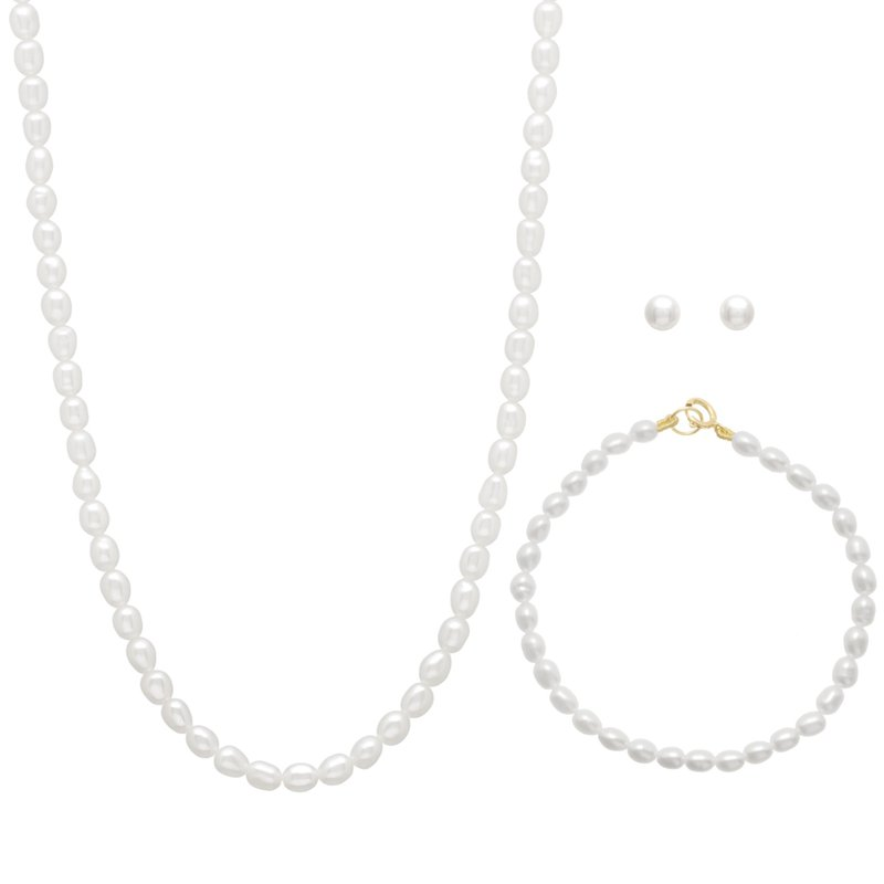 HJ Pearl Collection Freshwater Pearl Children's Set