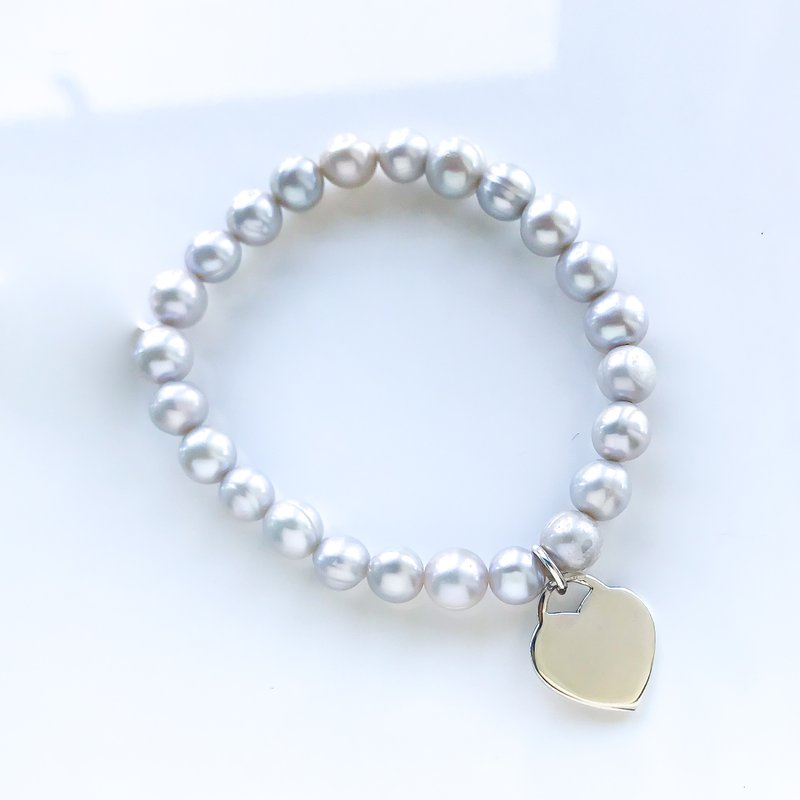 HJ Pearl Collection Grey Pearl Stretch Bracelet
