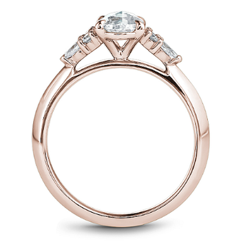 0.70CT Oval Rose Cut Multi-Stone Engagement Ring