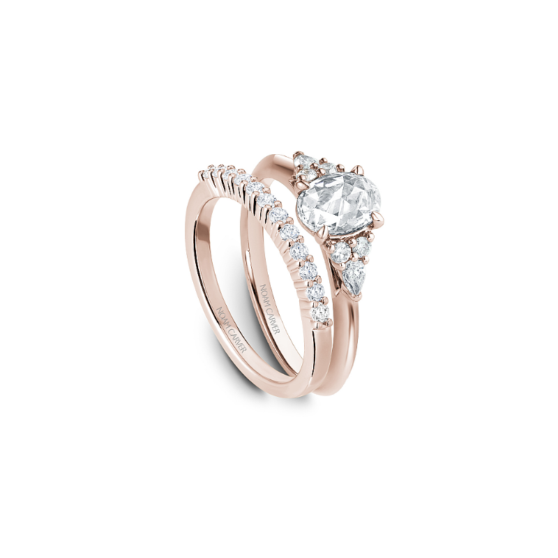 Noam Carver 0.70CT Oval Rose Cut Multi-Stone Engagement Ring