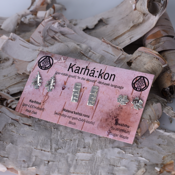 KARHÁ:KON - Tree Stud Earring Set