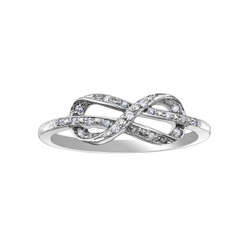 Corona Diamond Infinity Ring
