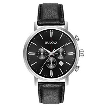 Bulova Men's Chronograph Leather Strap