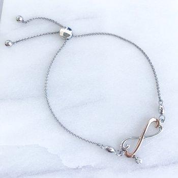 Diamond Infinity Bolo Bracelet