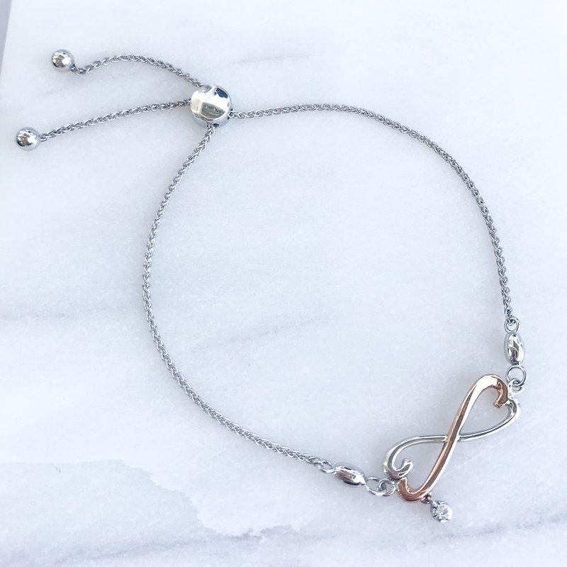 Fire and Ice Diamond Infinity Bolo Bracelet