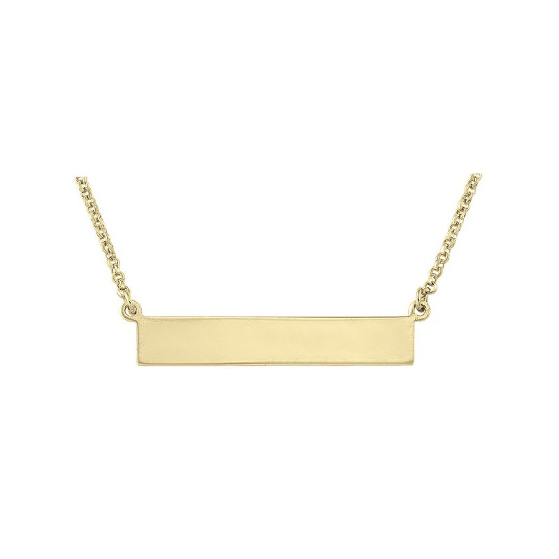 Tecimer & Johns Yellow Gold Plated Bar Necklace
