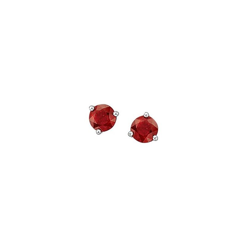 Corona Garnet Birthstone Earrings