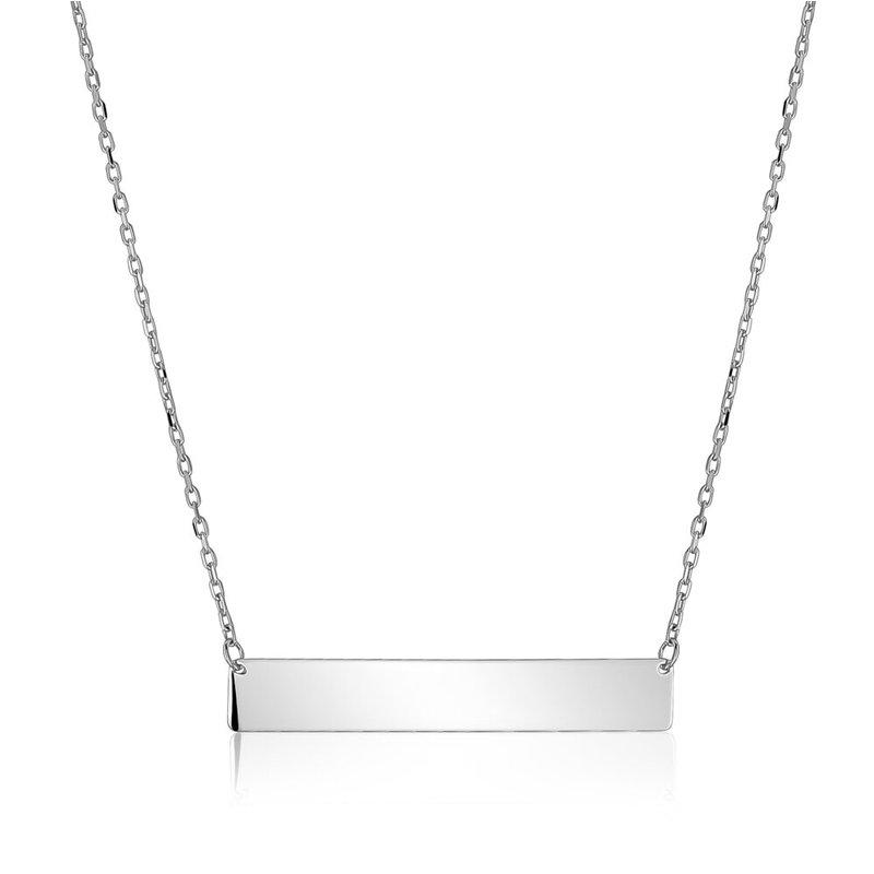 Tecimer & Johns White Gold Bar Necklace