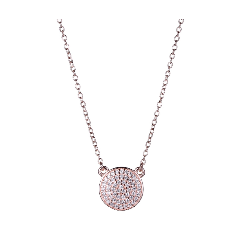Reign Rose Gold Plated Micro Pave Cubic Zirconia Necklace