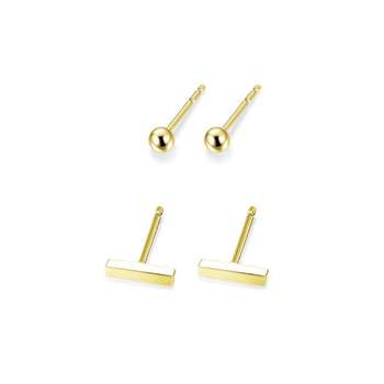 Yellow Gold Plated Earring Set