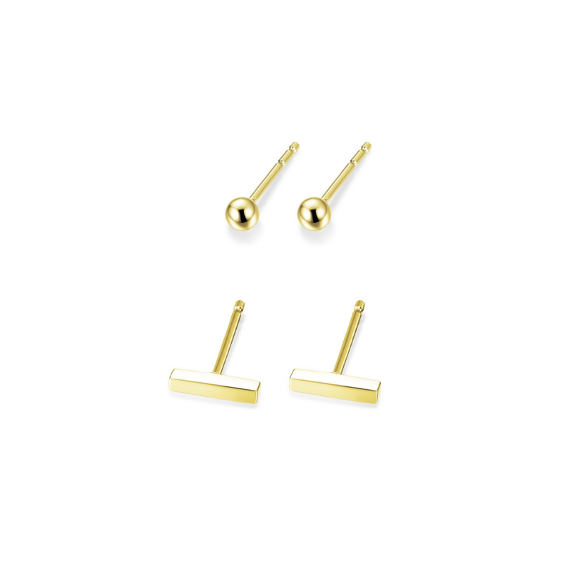 Reign Yellow Gold Plated Earring Set
