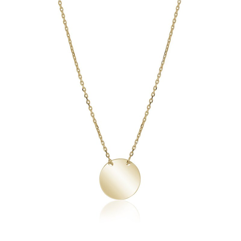 Tecimer & Johns Yellow Gold Disc Necklace