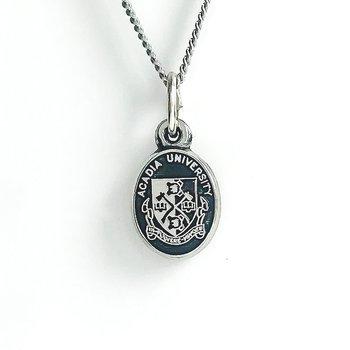Sterling Silver Acadia Crest (Black)