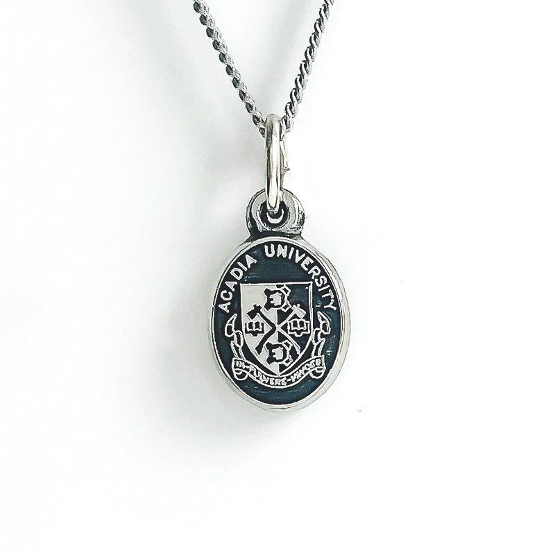 Acadia Jewellery Sterling Silver Acadia Crest (Black)