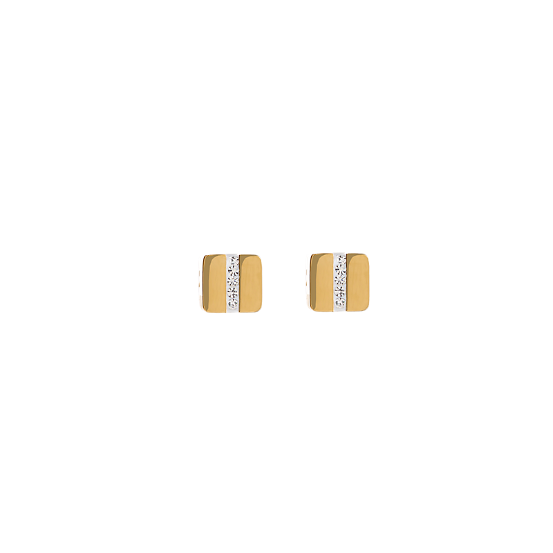 Coeur De Lion Yellow Gold Plated Crystal Stud Earrings