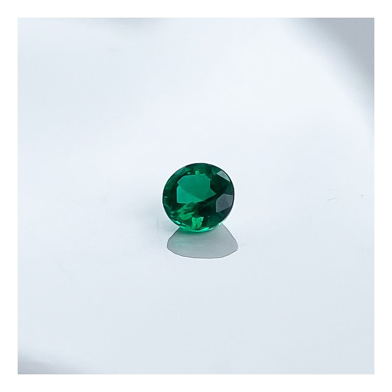 HJ Gemstone Collection 0.26CT Loose Round Emerald Gemstone