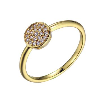 Yellow Gold Plated Pavé Ring
