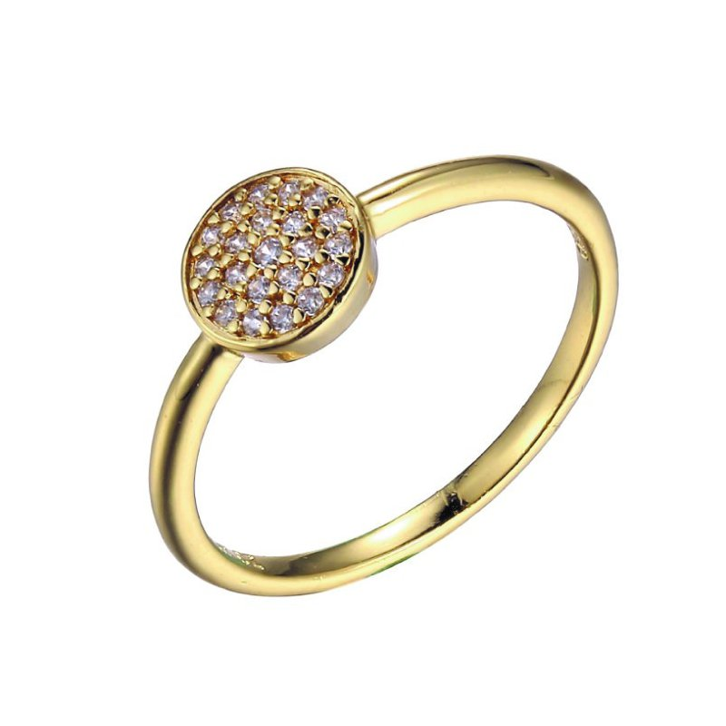 Reign Yellow Gold Plated Pavé Ring