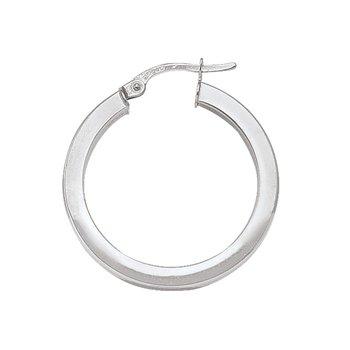 Plain Square Hoop Earrings (25mm)