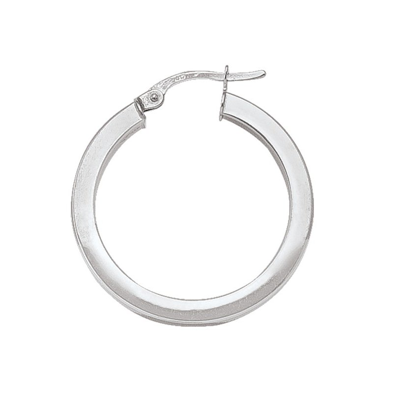 Tecimer & Johns Plain Square Hoop Earrings (25mm)
