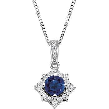 Diamond & Sapphire Pendant