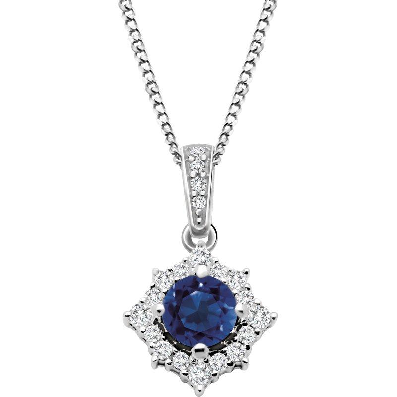 Corona Diamond & Sapphire Pendant