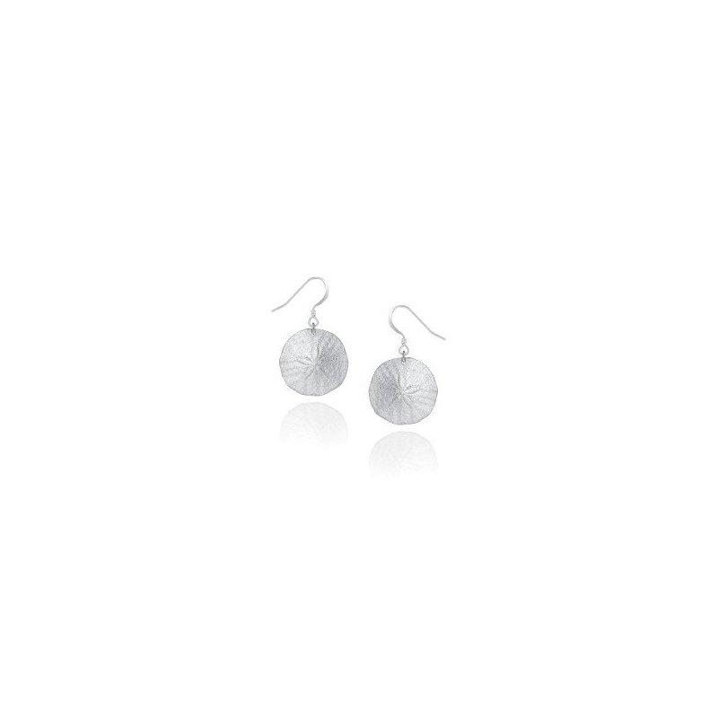Amos Pewter Sand Dollar Earrings