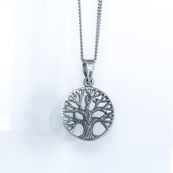 Oxidized Tree of Life Necklace