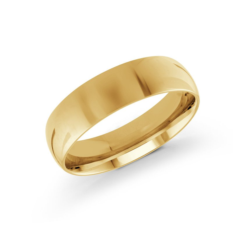Malo Bands Rounded Gold Wedding Band (2mm - 8mm)