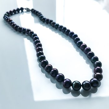 "Black Freshwater Pearl Strand (18"")"